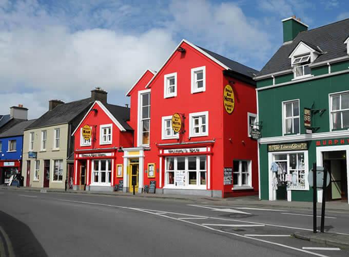 Dingle na Irlanda- Casinhas coloridas