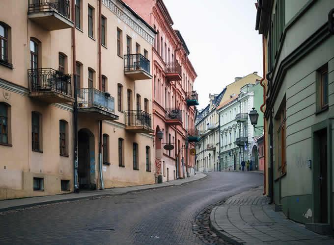 Uzupis um distrito de Vilnius