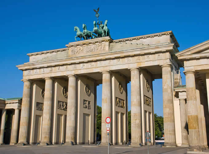 Portão de Brandenburgo em Berlim