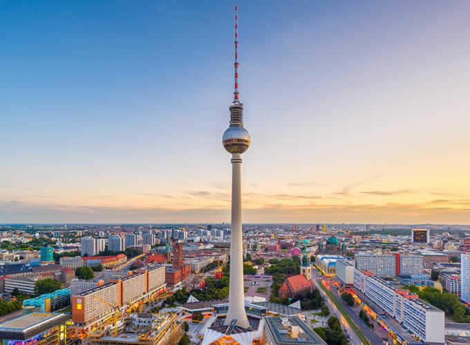 Torre de TV Berliner Fernsehturm em Berlim