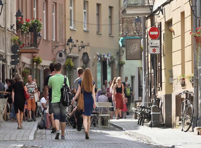Rua em Vilnius - Cidade Velha