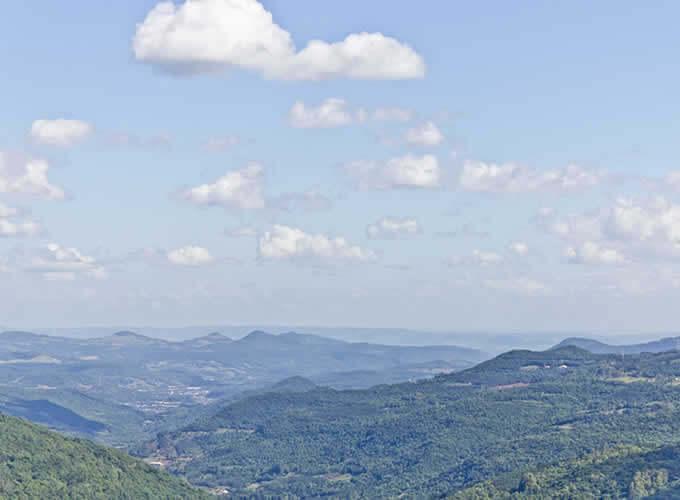 Vista do vale do quilombo