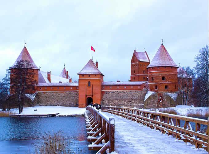 Castelo de Trakai no inverno