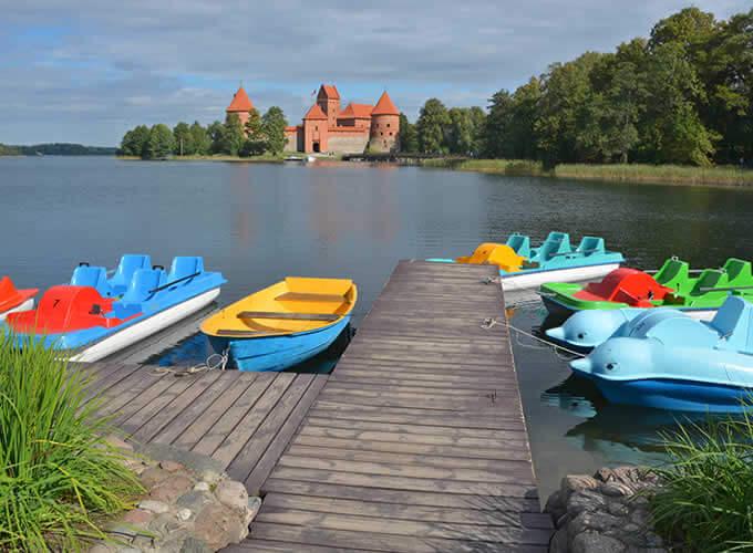 Nos arredores do Castelo de Trakai