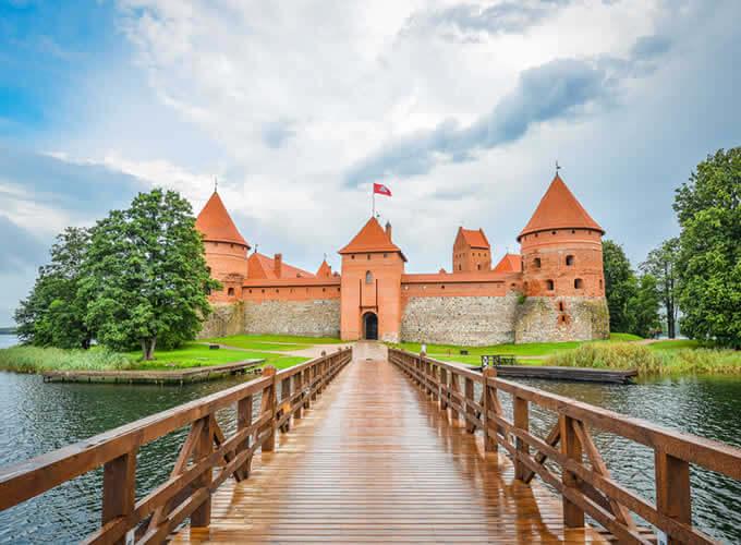 Chegando no Castelo de Trakai